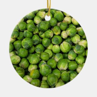 Brussels sprouts round ceramic decoration