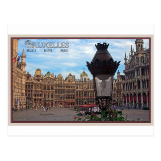 Brussels - The Grand Place Postcard