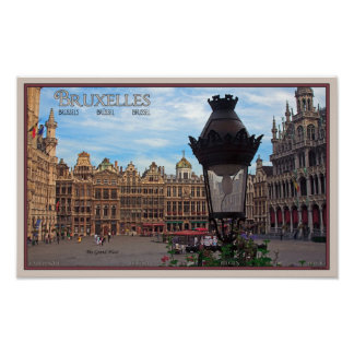Brussels - The Grand Place Poster