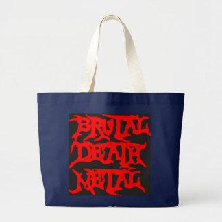 Brutal Death Metal Large Tote Bag