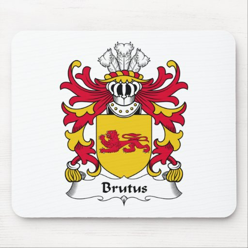 Brutus Family Crest Mouse Pad