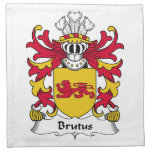 Brutus Family Crest Printed Napkins