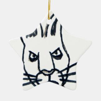 Brutus the Rabbit That Changed the World Ceramic Star Decoration
