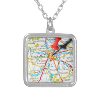 Bruxelles, Brussel, Brussels  in Belgium Silver Plated Necklace