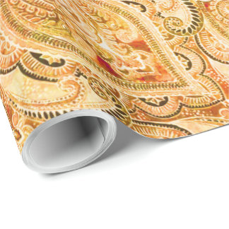 Bruxelles Peach Wrapping Paper