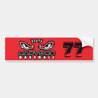 Bryan Drummond Herts Raptors Bumper Sticker