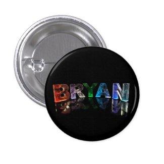 Bryan - Popular Boys Names in Lights Pinback Buttons