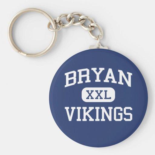 Bryan - Vikings - Bryan High School - Bryan Texas Keychains