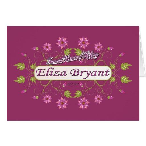 Bryant ~ Eliza Bryant / Famous USA Women Greeting Cards
