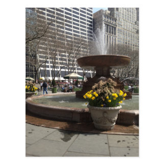 Bryant Park Fountain Postcards