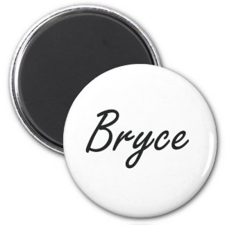 Bryce Artistic Name Design 6 Cm Round Magnet