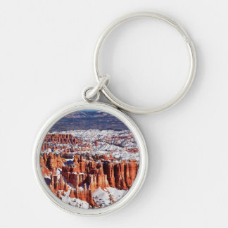 Bryce Canyon National Park Silver-Colored Round Key Ring