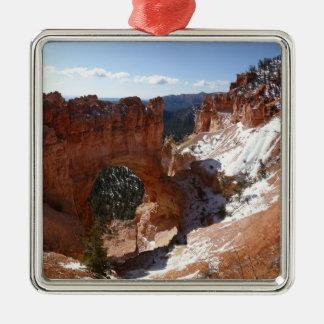 Bryce Canyon Natural Bridge Snowy Landscape Photo Christmas Ornament