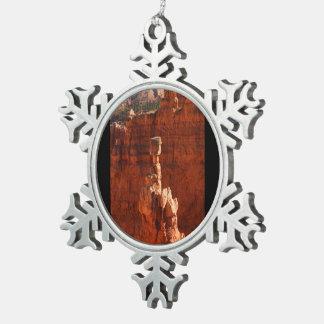 Bryce Canyon Pewter Snowflake Decoration