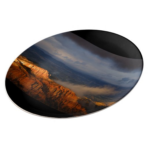 Bryce Canyon Storm Porcelain Plate