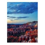 Bryce Canyon Sunrises Clouds Postcards