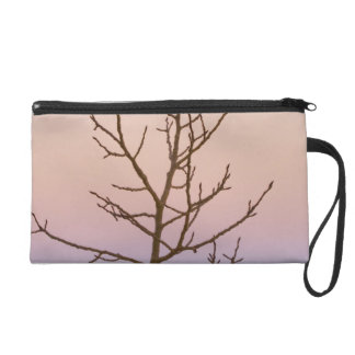 Bryce Canyon, Utah. Bare tree in front of sunset Wristlet Clutch