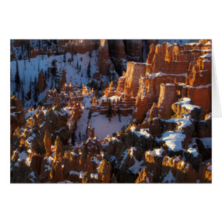 Bryce Canyon, Utah in Winter Card