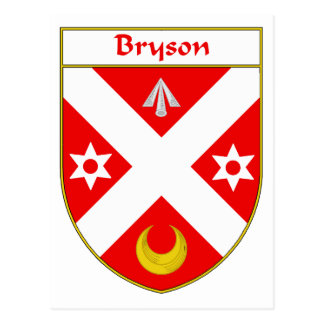 Bryson Coat of Arms/Family Crest Postcard