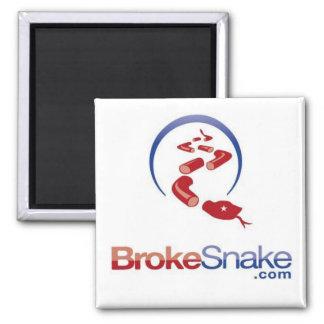 BS logo snake top Square Magnet