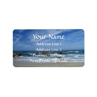 BSCW Bright Skies and Clear Waters Address Label