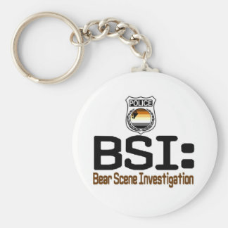 BSI:  Bear Scene Investigation Basic Round Button Key Ring