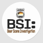 BSI:  Bear Scene Investigation Round Sticker