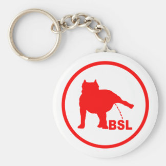 BSL PITBULL BASIC ROUND BUTTON KEY RING