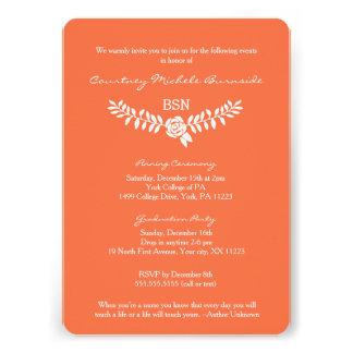 BSN graduation / RN LPN nurse pinning ceremony 13 Cm X 18 Cm Invitation Card