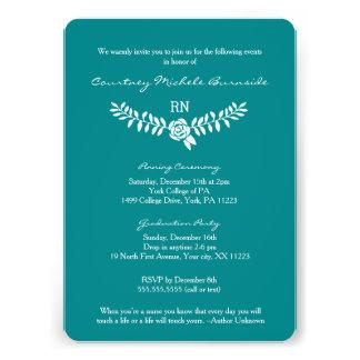 BSN graduation / RN RDH nurse pinning ceremony 13 Cm X 18 Cm Invitation Card