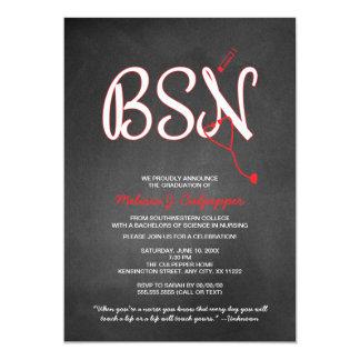 BSN nurse graduation pinning ceremony NO HAT 13 Cm X 18 Cm Invitation Card