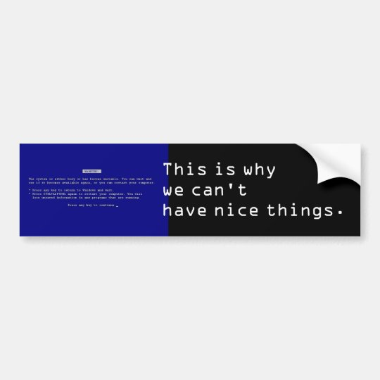 BSOD Bumper Sticker