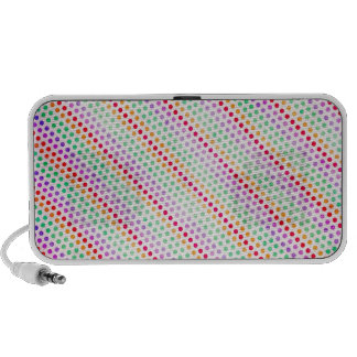 BSPDC COLORUFL RAINBOW PAPER DOTS POLKADOTS PATTER iPhone SPEAKERS