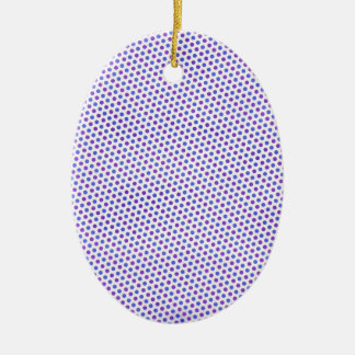 BSPDC ROYAL BLUE PURPLE WHITE PAPER DOTS POLKADO CHRISTMAS ORNAMENT