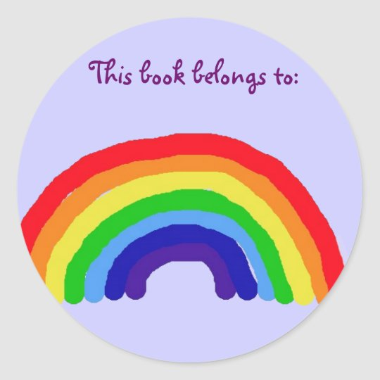 BT- Rainbow 'This book belongs to' stickers