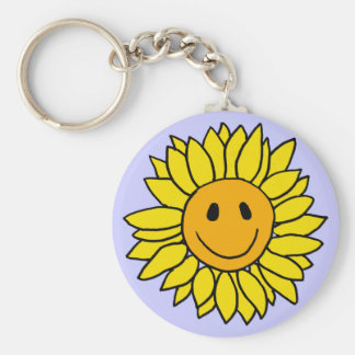 BT- Smiley Face Sunflower Keychain