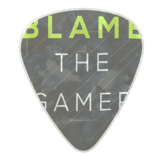 BTG Logo guitar pick Pearl Celluloid Guitar Pick