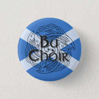 Bu Choir Saltire 3 Cm Round Badge