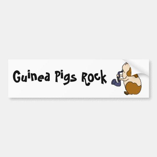 BU- Guinea Pig Playing the Saxophone Bumper Sticker
