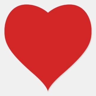 BU Red Heart Sticker