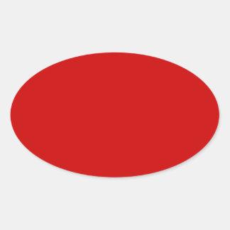 BU Red Oval Sticker