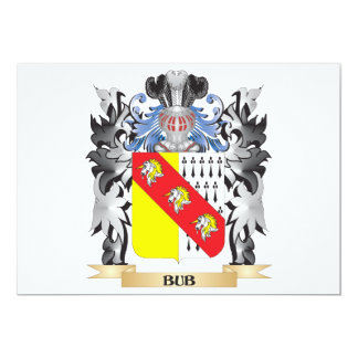 Bub Coat of Arms - Family Crest 13 Cm X 18 Cm Invitation Card