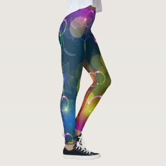 Bubble and Flowers Leggings