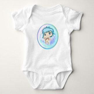 Bubble Angel Blue Number 1 Baby Bodysuit
