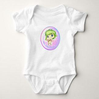 Bubble Angel Violet Number 1 Baby Bodysuit
