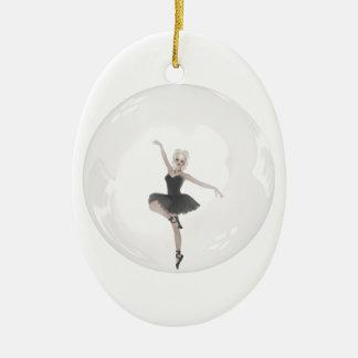 Bubble Ballerina 1 Ceramic Oval Decoration