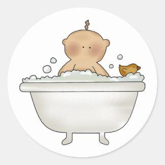 Bubble Bath Baby Stickers