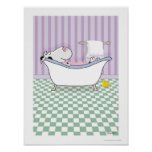 BUBBLE BATH COW poster by Sandra Boynton
