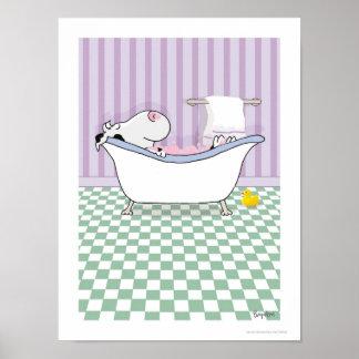 BUBBLE BATH COW poster by Sandra Boynton