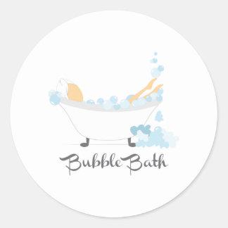 Bubble Bath Round Sticker